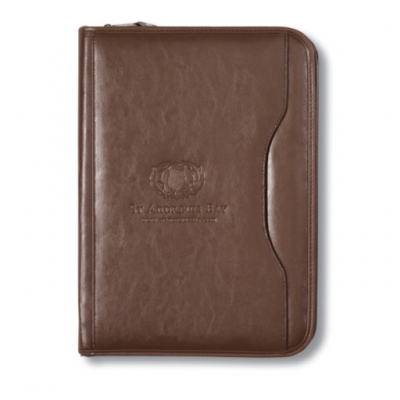 Brown Deluxe Executive Vintage Leather Padfolio
