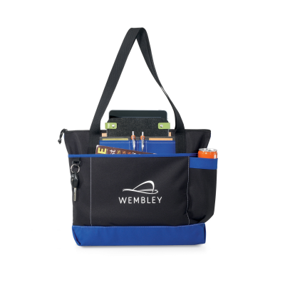 Avenue Business Tote Blue-Black