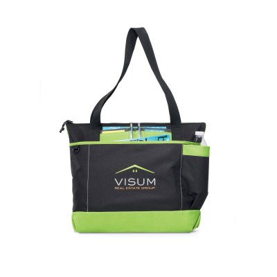 Avenue Business Tote Green-Black
