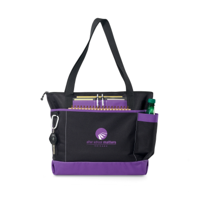 Avenue Business Tote Purple-Black