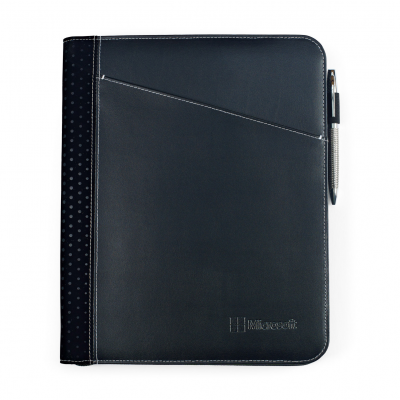 Cedar Leather Padfolio - Black