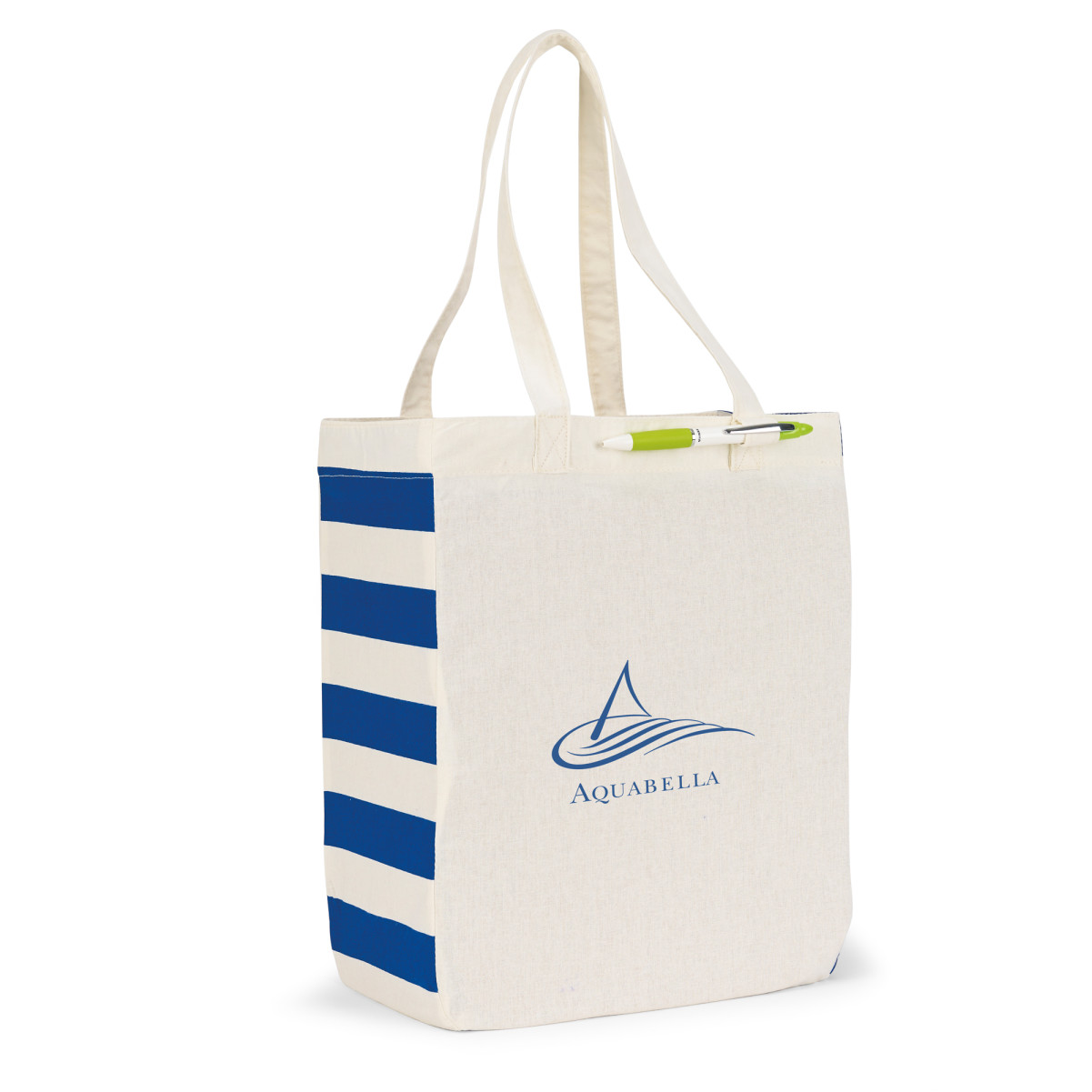 Chelsea Cotton Market Tote Natural-Blue