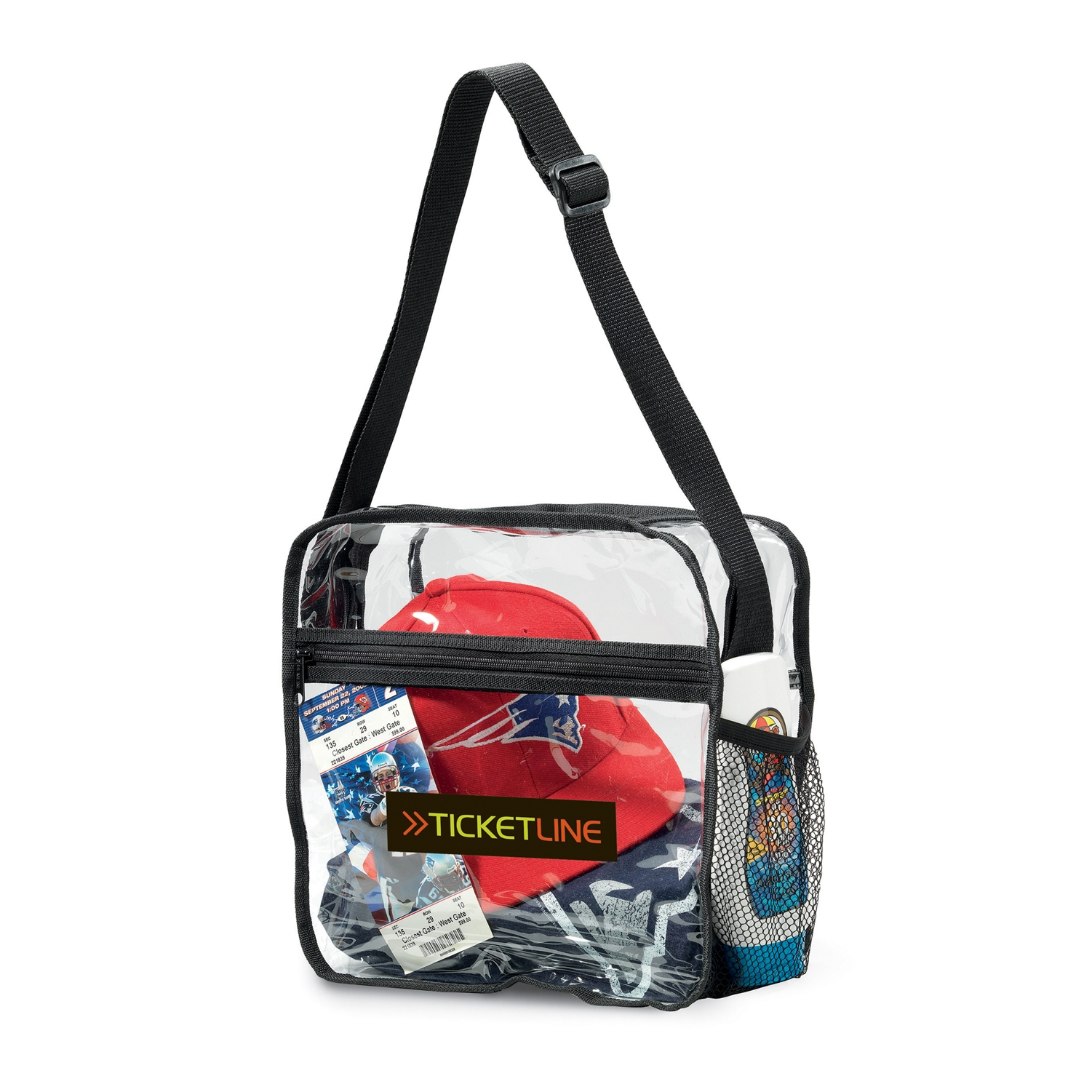 Clear Event Messenger Bag Clear