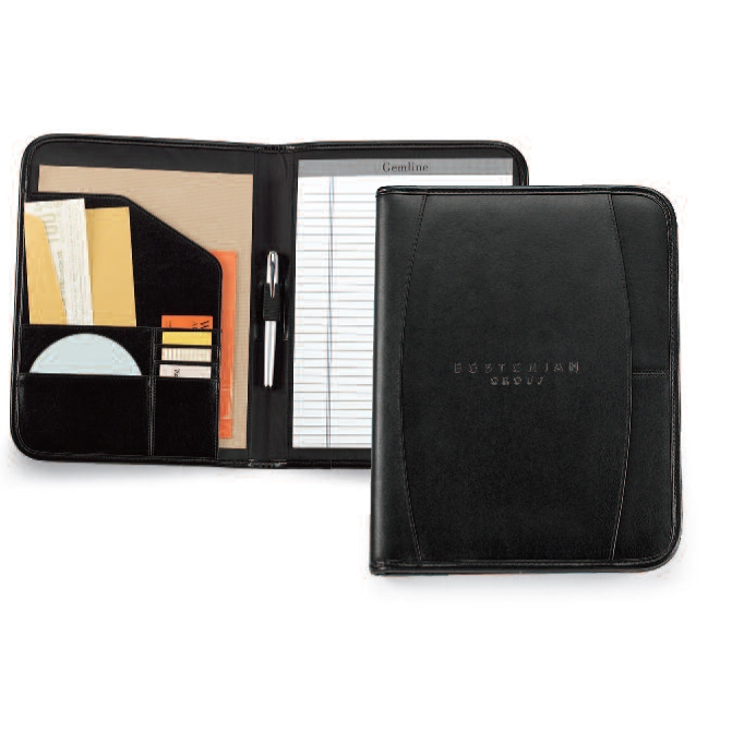 Contemporary Leather Writing Pad Black