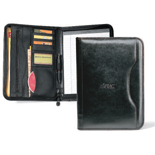Deluxe Executive Vintage Leather Padfolio Black