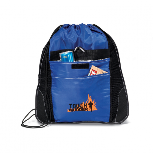 Elite Sport Cinchpack with Insulated Pocket Blue