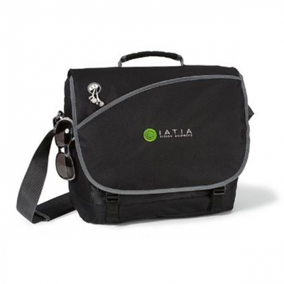 Freestyle Computer Messenger Bag Black