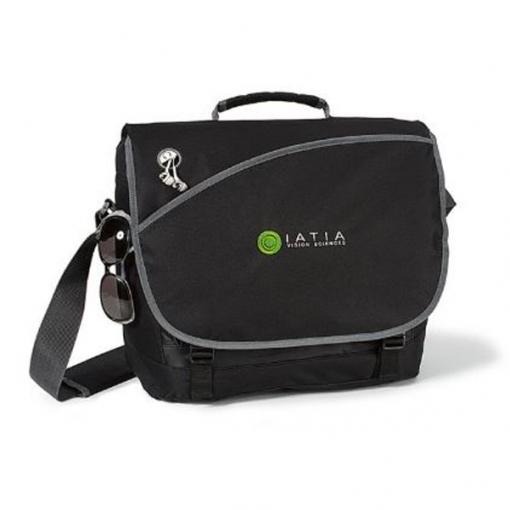 Freestyle Computer Messenger Bag - Black
