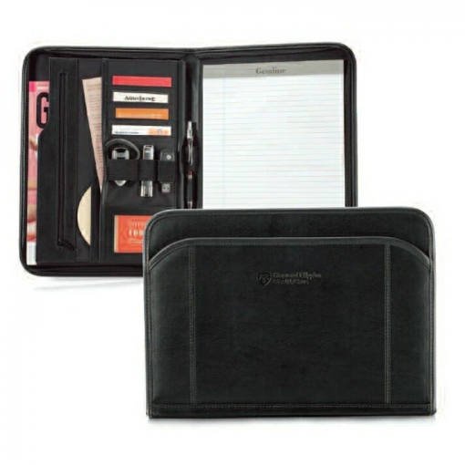 Global Leather Padfolio - Black