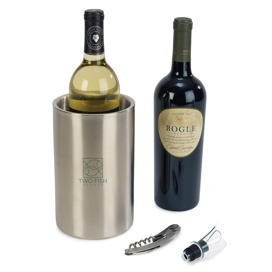 Huntington Stainless Steel Wine Kit Silver
