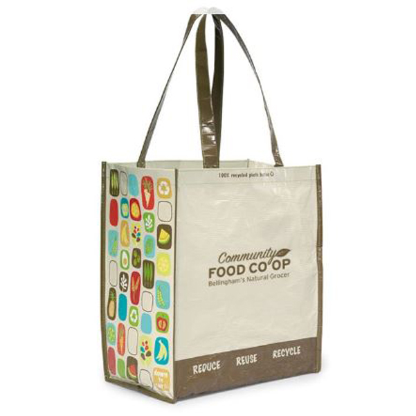Laminated 100 percent Recycled Shopper Natural