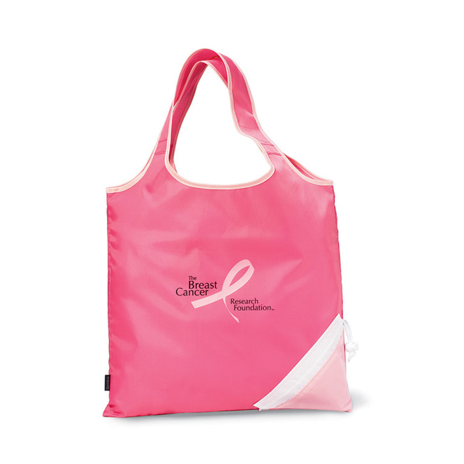 Latitudes Foldaway Shopper Pink