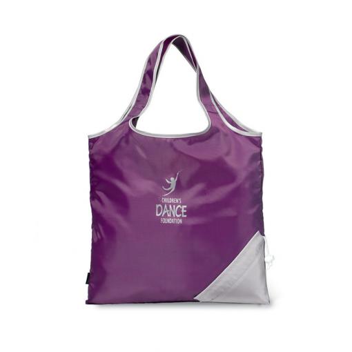 Latitudes Foldaway Shopper Purple