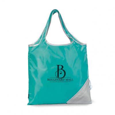 Latitudes Foldaway Shopper Turquoise