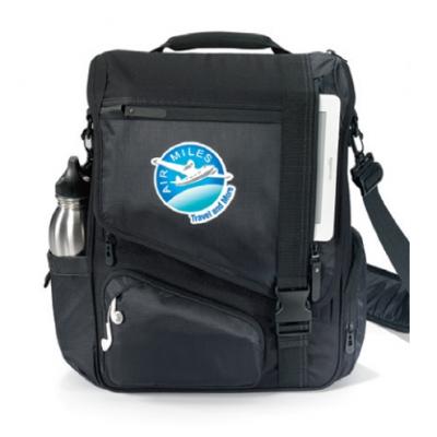 Life in Motion™ Momentum Computer Messenger Bag Black