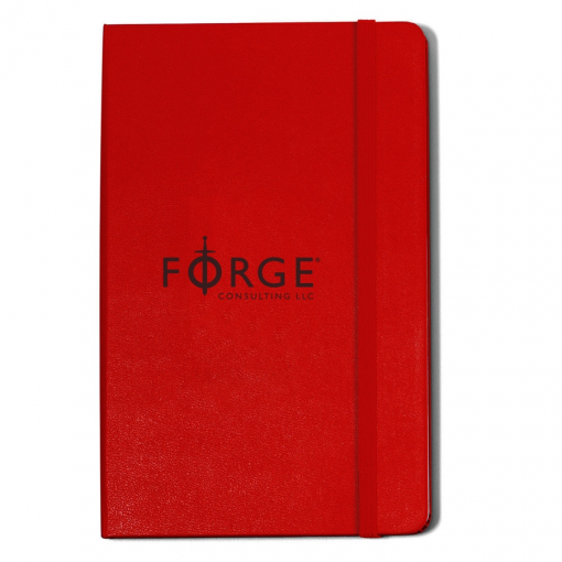 Moleskine® Hard Cover Ruled Large Notebook Red
