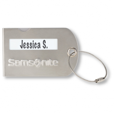 Samsonite Luggage Tag Silver