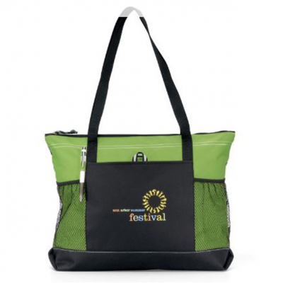 Select Zippered Tote Green