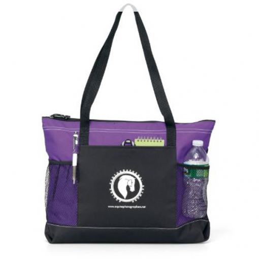 Select Zippered Tote Purple