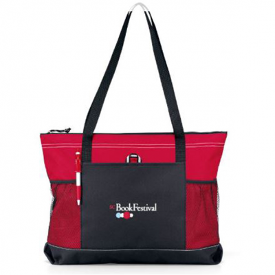 Select Zippered Tote Red