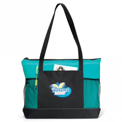 Select Zippered Tote Turquoise
