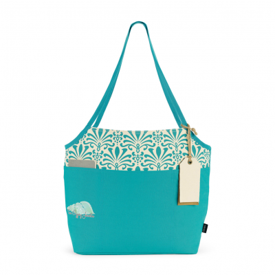 Tori Cotton Fashion Tote Blue