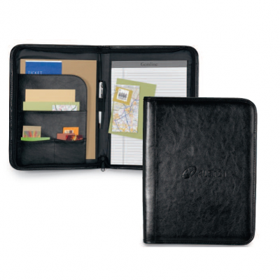 Tuscan Leather Padfolio Black