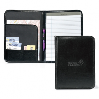 Tuscan Leather Writing Pad Black