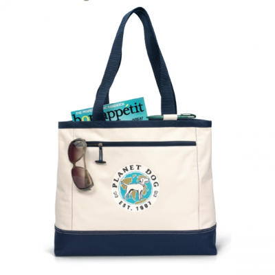 Utility Tote - Natural-Navy