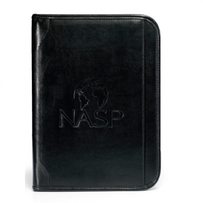 Vintage Leather Padfolio - Black