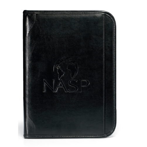 Vintage Leather Padfolio Black