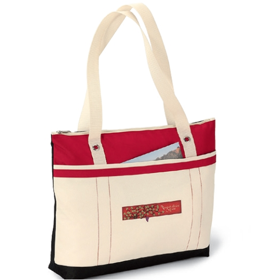 Windjammer Tote Red-Natural