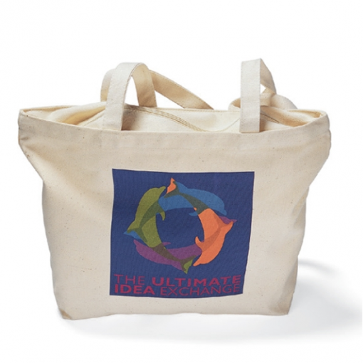 Zippered Tote - Natural