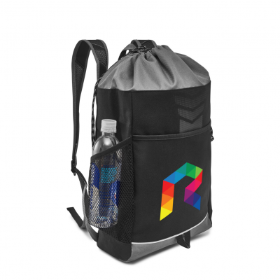 Riptide Drawstring Backpack Black-Grey