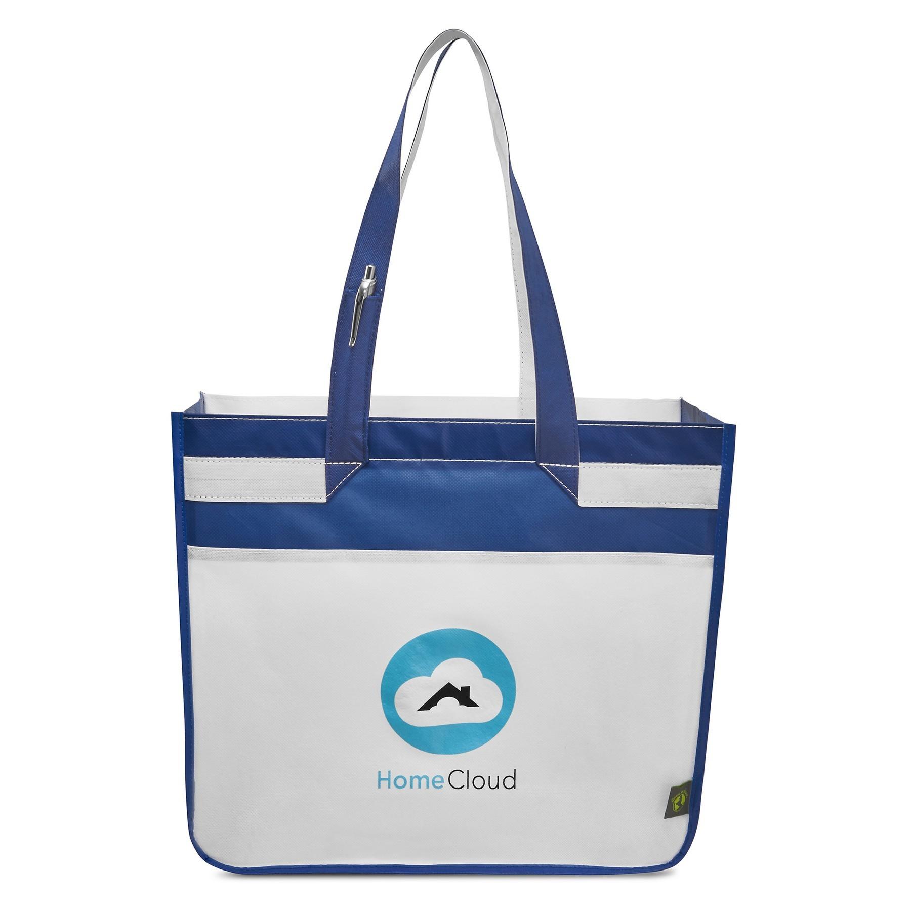 Sedona Laminated Shopper Blue