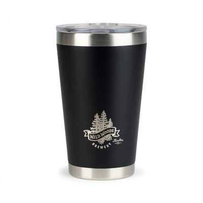 Aviana™ Vale Double Wall Stainless Pint - 16 Oz. Black