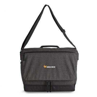 Heritage Supply™ Tanner Computer Messenger Bag Black-Grey