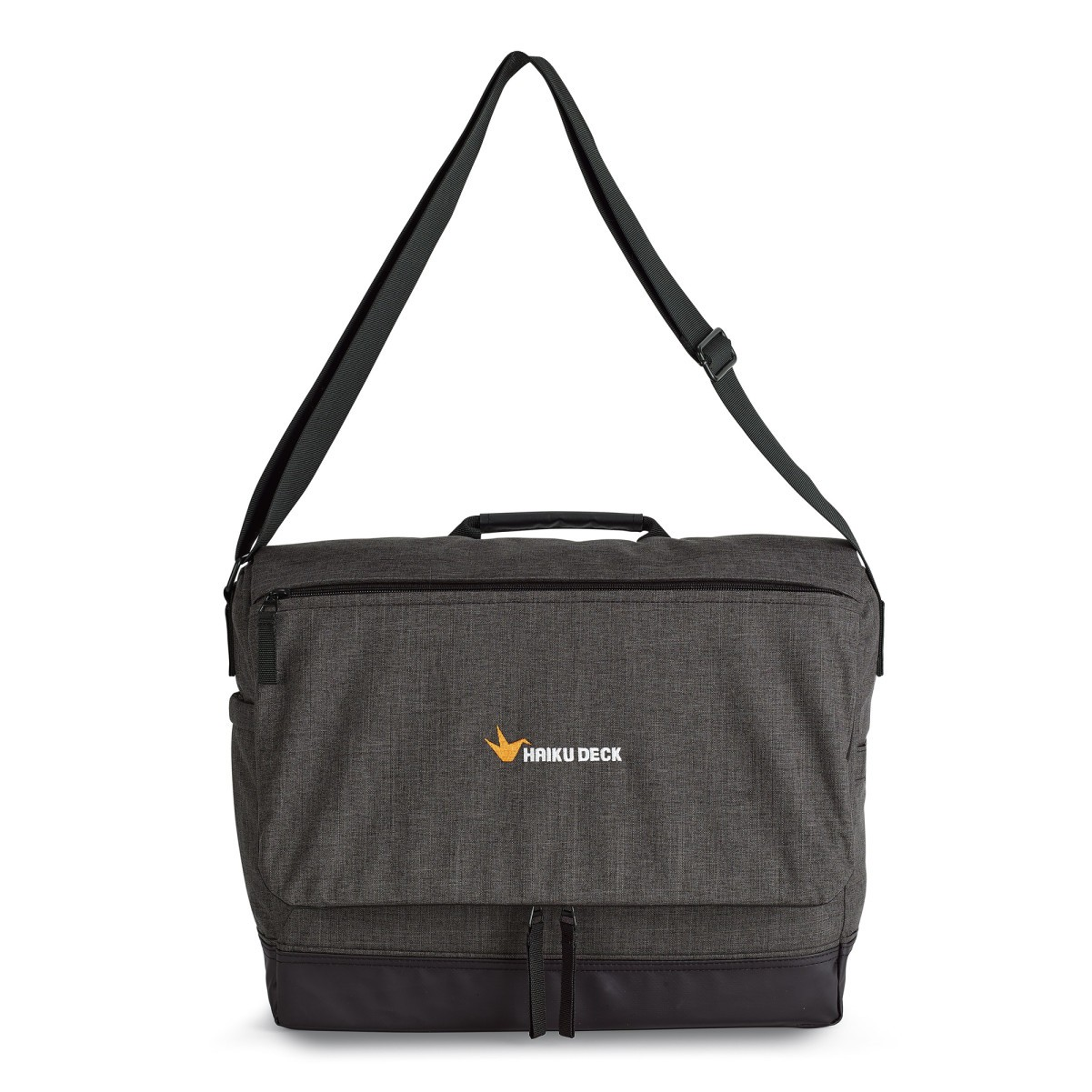 Heritage Supply Tanner Computer Messenger Bag Black Grey