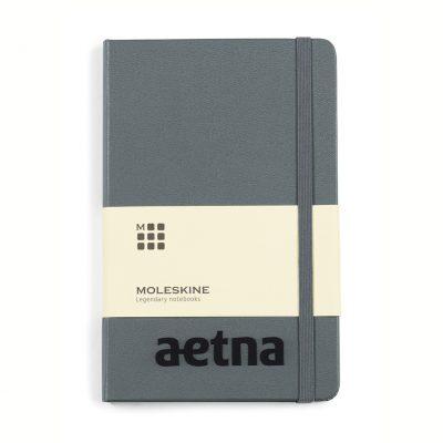 Moleskine® Hard Cover Ruled Medium Notebook Grey