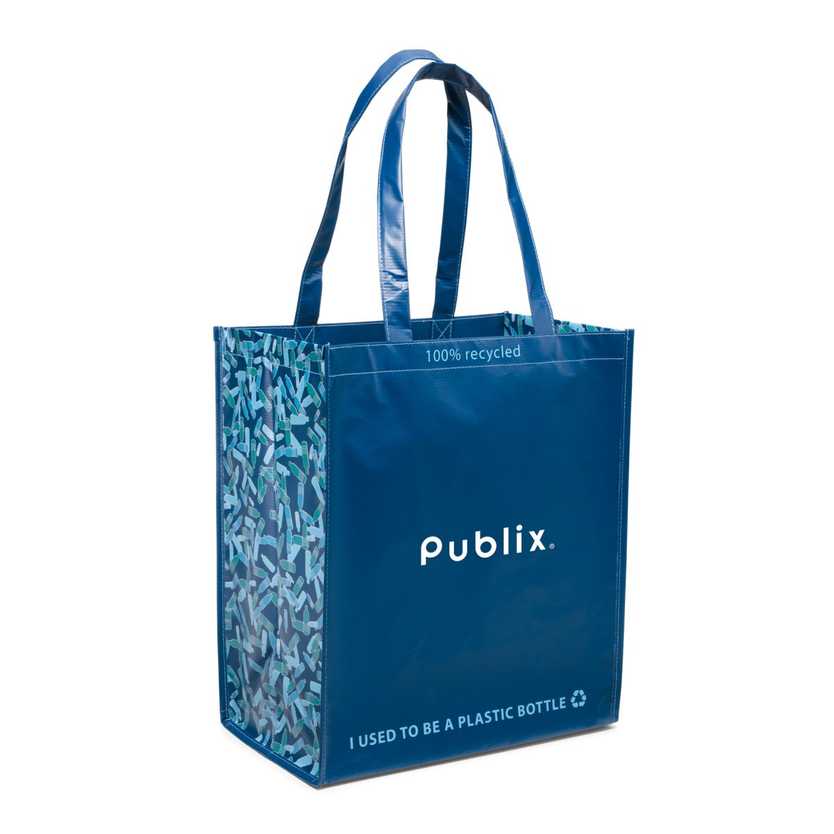 Laminated 100 percent Recycled Shopper Blue