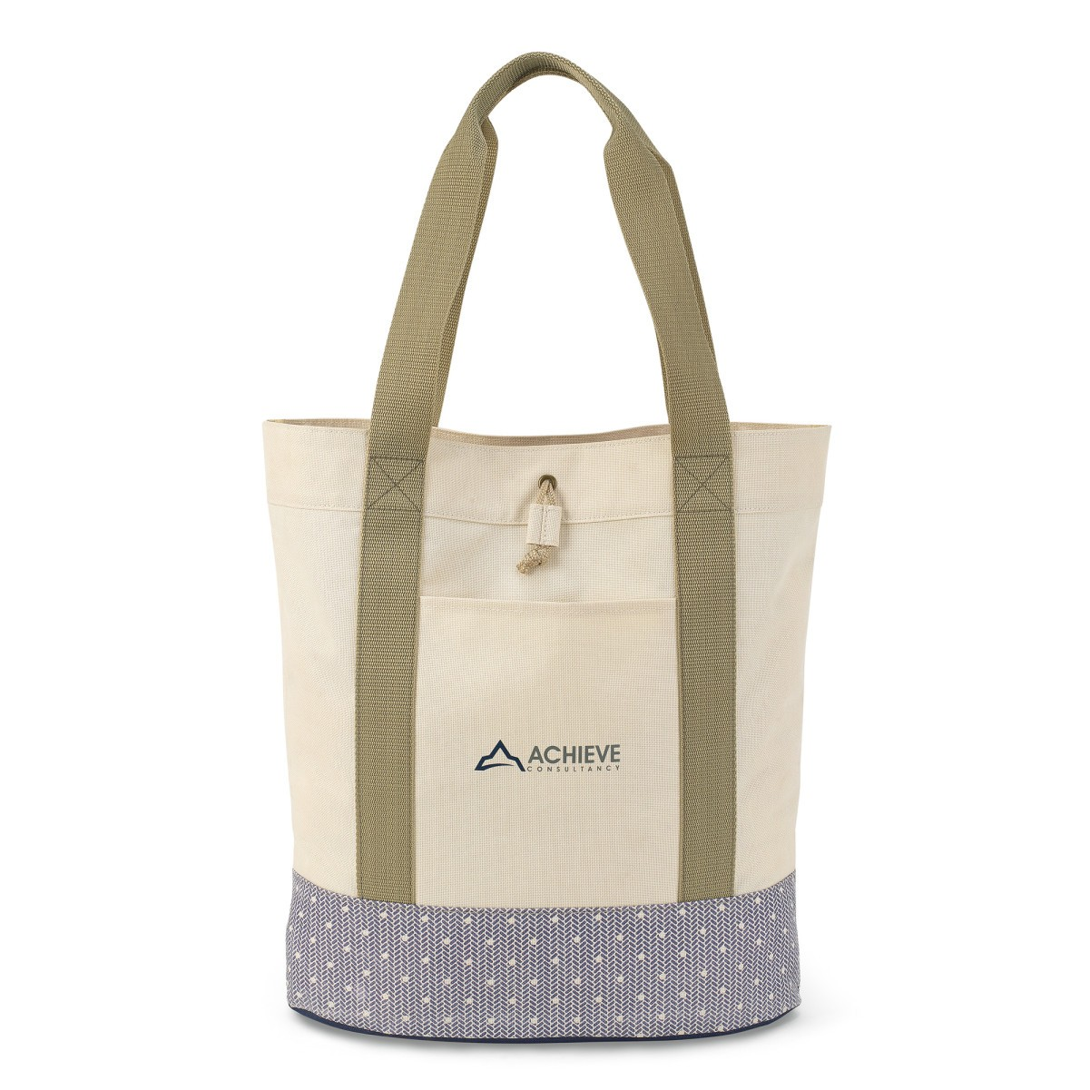 Trinity Fashion Tote Natural-Blue