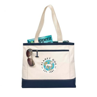 Utility Tote Natural-Blue