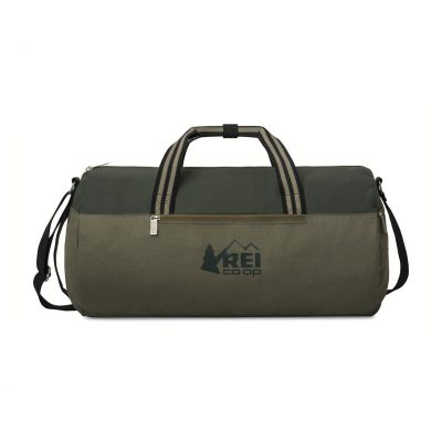 Charlie Cotton Barrel Duffel Green