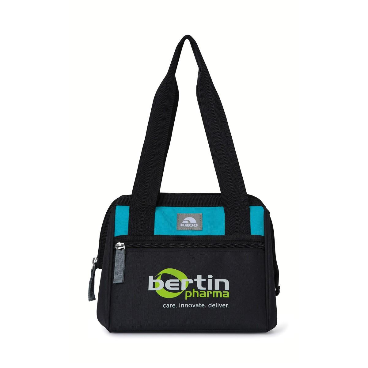 Igloo® Leftover Lunch Bag Black-Blue
