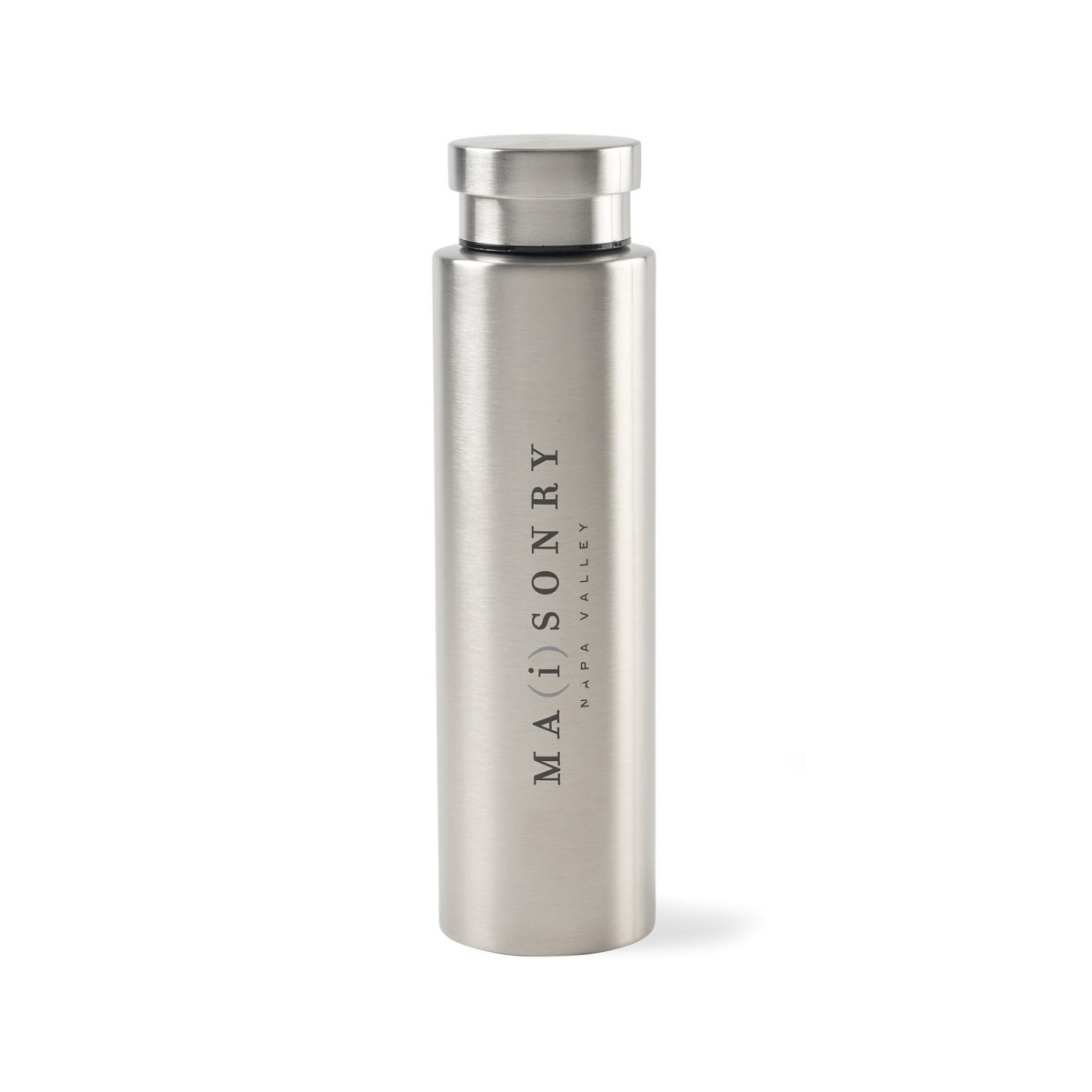 Napa Double Wall Stainless Wine Canteen - 25 Oz. Silver