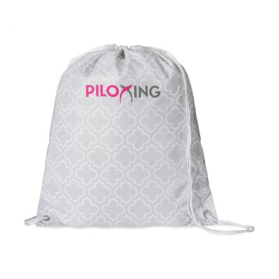 Riley Patterned Cinchpack Grey-White