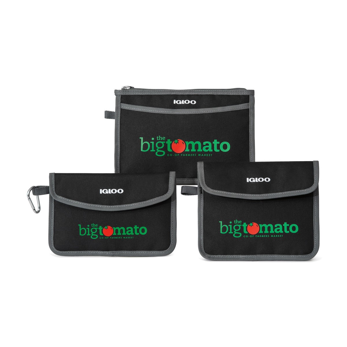 Igloo® Insulated 3 Piece Pouch Set Black