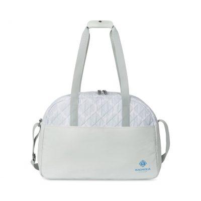 Madeline Quilted Weekender Bag Grey-White