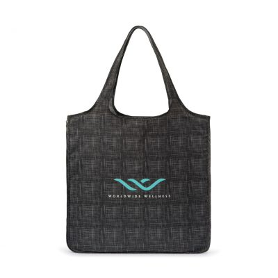 Riley Medium Patterned Tote Grey