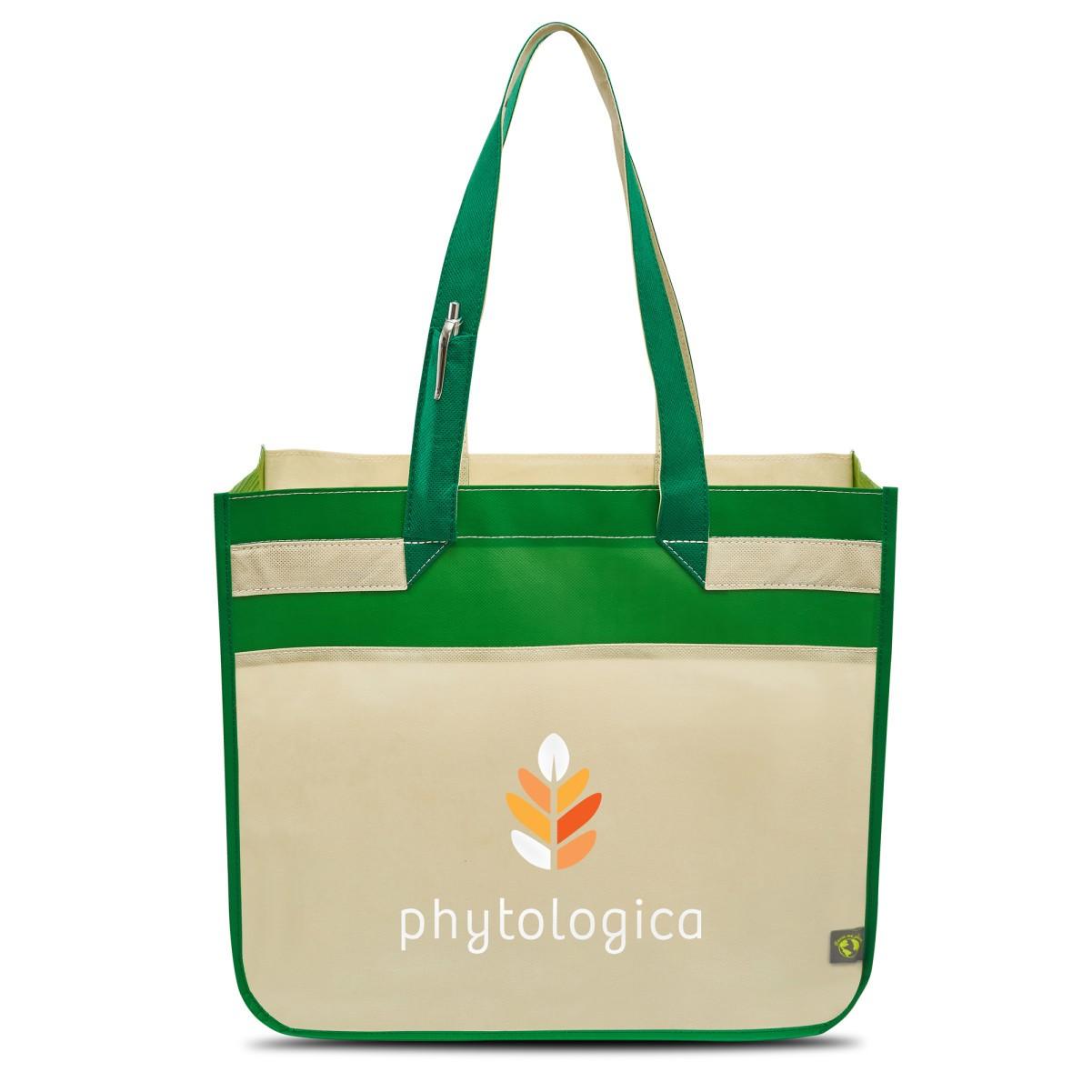 Sedona Laminated Shopper Green